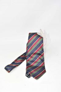 Cravatta Uomo John Rold A Righe Verdi Blu