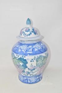 Vaso In Ceramica Cinese Made In China Altezza 35 Cm Con Tappo
