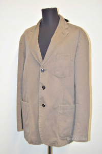 Jacket Man Brown In Wool Size 52