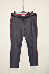 Trousers Woman Black Fantasy Rhombuses Size 32 Cecil