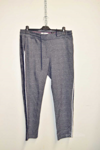 Trousers Woman Blue Small Painting Cecil Size L