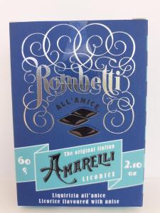 Amarelli Rombetti all'Anice 60g. Amarelli Fabbrica di Liquirizia Rossano (CS).