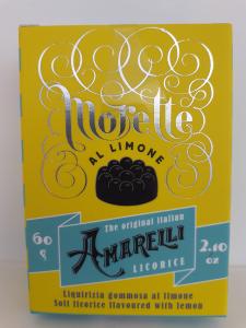Amarelli morette al limone 60g. Amarelli Fabbrica di Liquirizia Rossano (CS)