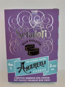 Amarelli Senatori alla Violetta 60g. Amarelli Fabbrica di Liquirizia Rossano (RC)