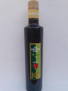 Olio Extravergine di Oliva Kouvala Metodo Sinolea 0.50L. Azienda Agricola Elvira de Leo Bagnara Calabra (RC)