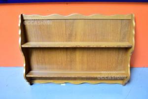 Plate Rack Wood 2 Shelves Size 119x88 Cm