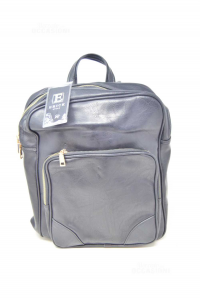 Backpack Professional In Faux Leather Black New