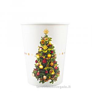 8 pz - Bicchieri Christmas Liberty Natale - Party tavola