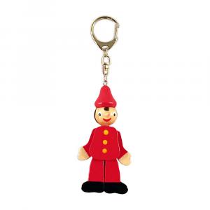 Pinocchio portachiavi in legno cm 15