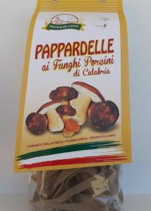 Pappardelle ai Funghi Porcini di Calabria 500g. Pasta Artigianale essiccata lentamente a bassa temperatura del Pastificio Gioia Gioia Tauro (RC)