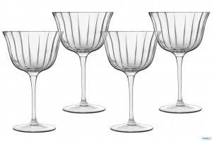 Linea Bach Retro Frizz Set 4 Calici Cocktails 26 Cl In Vetro Trasparente Casa Cucina Collezioni Per Long Drinks