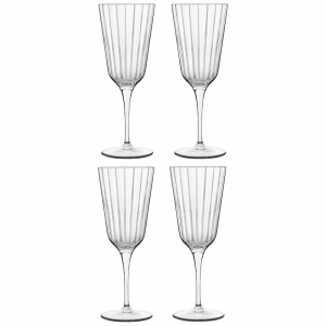 Linea Bach Vintage Set 4 Calici Da Cocktails Dettagliati In Vetro Trasparente Casa Cucina Collezioni Bicchieri Raffinati