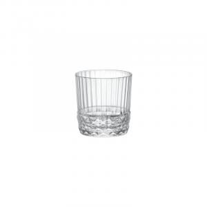 Linea America '20s Bicchieri Dof Confezione 6 Pezzi In Vetro Trasparente Decorato Raffinato Casa Cucina Collezioni Rum Liquore