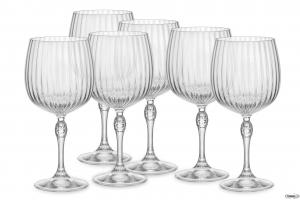 Linea America '20s Confezione Da 6 Pezzi Bicchieri Dof Per Cocktails Gin Tonic Collection Collezioni Raffinate Vetro Trasparente Casa Cucina