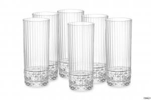 Linea America Confezione Da 6 Pezzi Bicchieri Dof Per Cocktails Long Drinks Collection Collezioni Raffinate Vetro Trasparente Casa Cucina