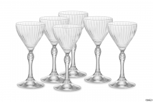 Linea America Confezione Da 6 Pezzi Bicchieri Dof Per Cocktails Nick&Nora Collection Collezioni Raffinate Vetro Trasparente Casa Cucina