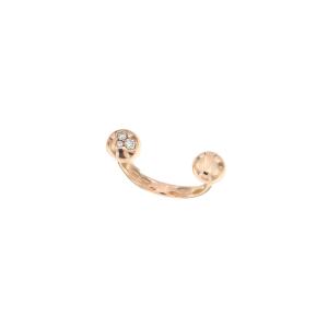 Anello Mini Boule in oro rosa 18k e diamanti