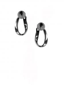 Orecchini in oro nero 18k con perle Tahiti
