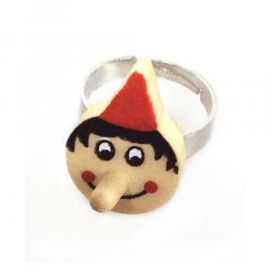 Pinocchio anello in legno