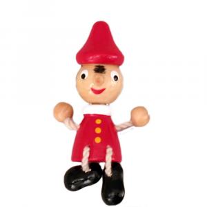 Pinocchio magnete in legno