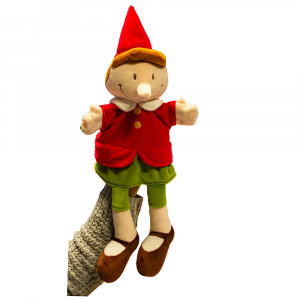 Pinocchio marionetta in peluche