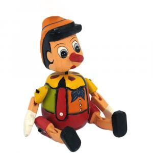 Pinocchio salvadanaio in legno cm 30