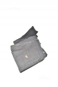 Pants Woman Armani Jeans Size 42 Black 100% Cotton