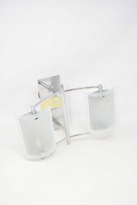Wall Lamp Double Glass Satin
