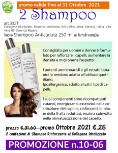 2 Shampoo Rinforzante Anticaduta 250 ml