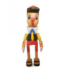 Pinocchio in legno cm 40
