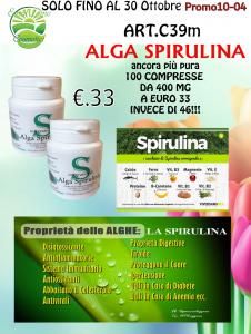 2 Confezioni Alga Spirulina - Super nutrimento - 100 Compresse da 400 mg