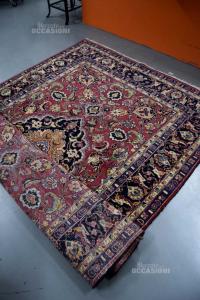 Carpet Iran Mescheo Fit 195x295 Cm Color Bordeaux Blue Beige