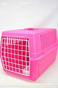 Pet Carrier For Dogs Or Cats In Plastic Pink