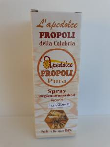 L'apedolce Propoli Pura della Calabria spray idriglicerico senza alcool aroma limone. Mellisape S.Costantino Cal. (VV)