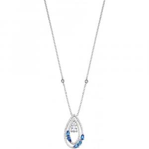 Collana donna in argento 925 Morellato con zirconi bianchi e blu SAIW19