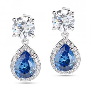 Orecchini donna in argento 925 Morellato con zirconi bianchi e blu SAIW10