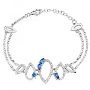 Bracciale donna in argento 925 Morellato con zirconi bianchi e blu SAIW20