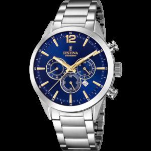 Orologio uomo Festina cronografo con cinturino in acciaio F20343/9