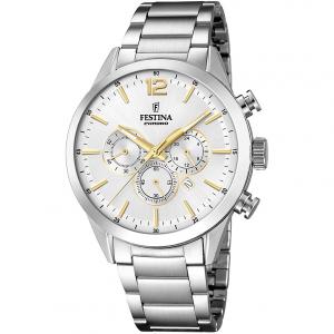 Orologio uomo Festina cronografo con cinturino in acciaio F20343/1
