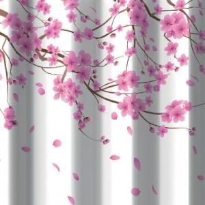 TENDA PER DOCCIA 2 LATI IN TESSUTO CM. 180 X 200 Mod. Sakura Rosa      -