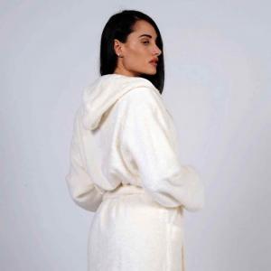 Accappatoio Easy  Corto Personalizzabile - Bianco Naturale