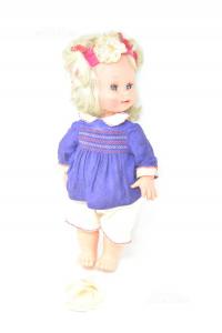 Bambola Furga Anni '60 Vintage, Non Funzionante 45 Cm