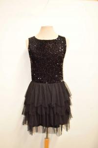 Dress Woman Rinascimento Size S Paiettes / Tulle Black