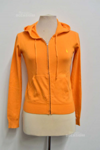Felpa Bambina Arancione Ralph Lauren Anni 12-14