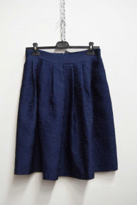 Skirt Woman Capsules Size M / L Blue Broccata