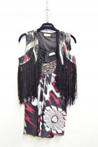 Complete Woman Pimko Size 44 Mini Dress + Gilèt Fringes