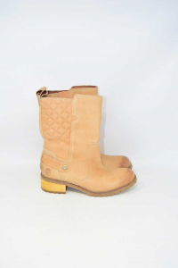 Boots Timberland Beige In Leather N°.39