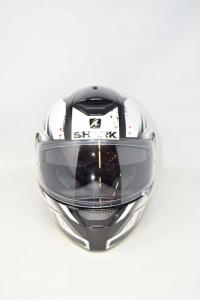 Motorcycle Helmet Shark White Black Size.l (like New)