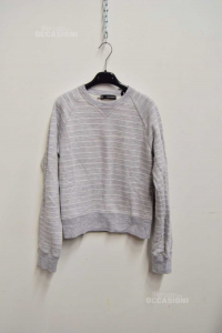 Sweatshirt Woman Grey Lines Dsquared2 Sizexs Made In Italy