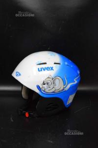 Casco Da Sci Bambino Uvex Blu Bianco